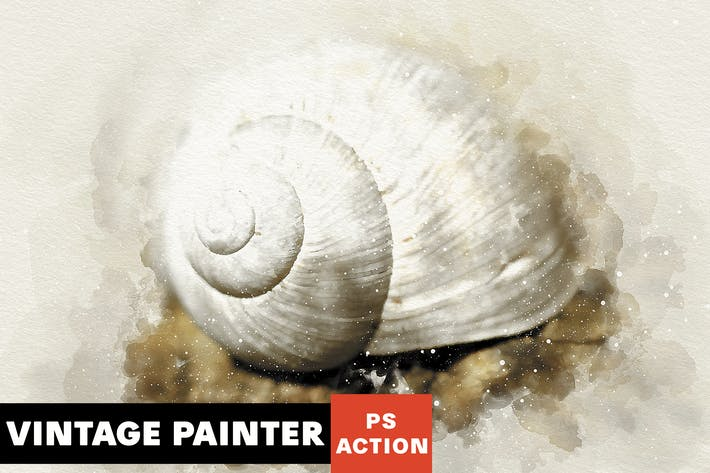 Thumbnail for Vintage Painter Photoshop Action