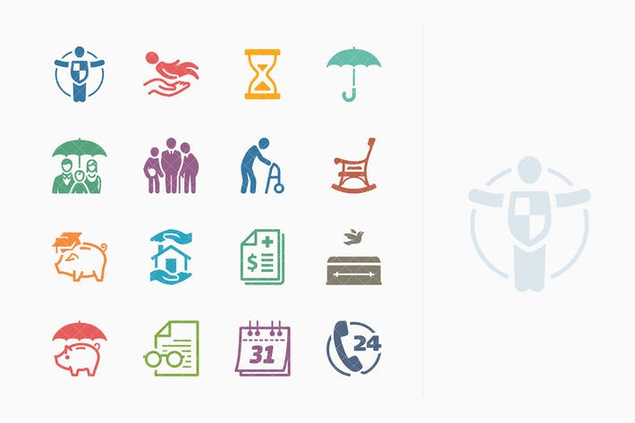 Thumbnail for Life Insurance Icons - Colored Series