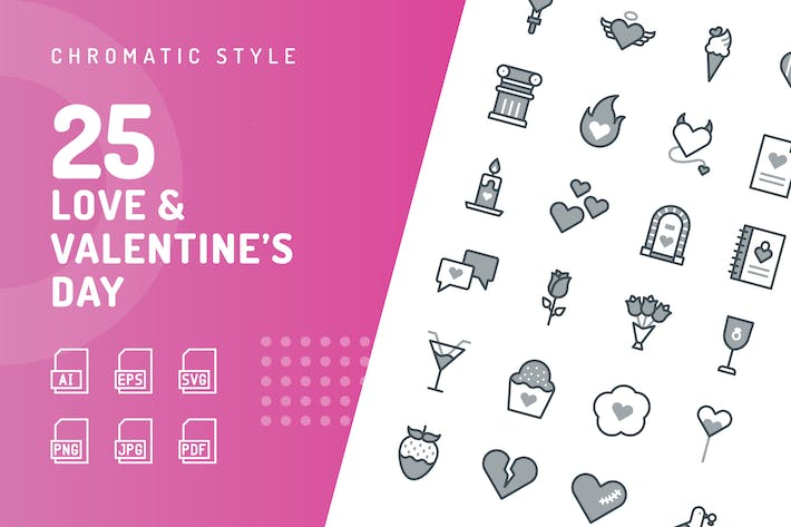 Love & Valentine's Day Chromatic Icons