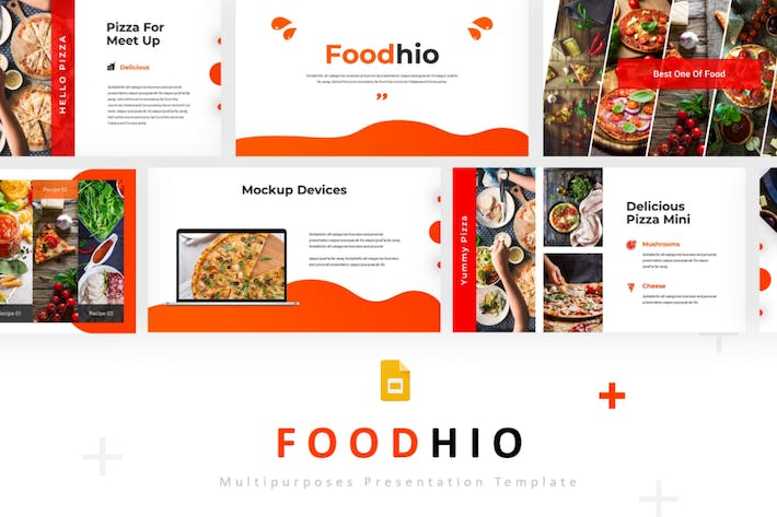 Thumbnail for Foodhio - Google PräsentationsVorlage
