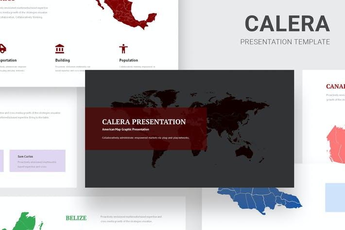 Thumbnail for Calera - America Continent Map Powerpoint