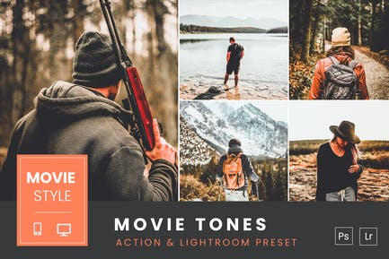 Movie Tones  Action & Lightroom Preset