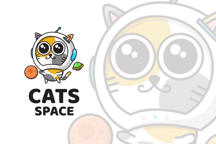 Thumbnail for Cats Space Cute Logo Template