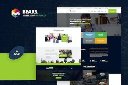 Bear's - Advisor Agency PSD Template