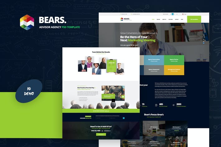 Thumbnail for Bear's - Advisor Agency PSD Template
