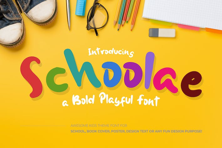 Thumbnail for Schoolae Bold Playful Font