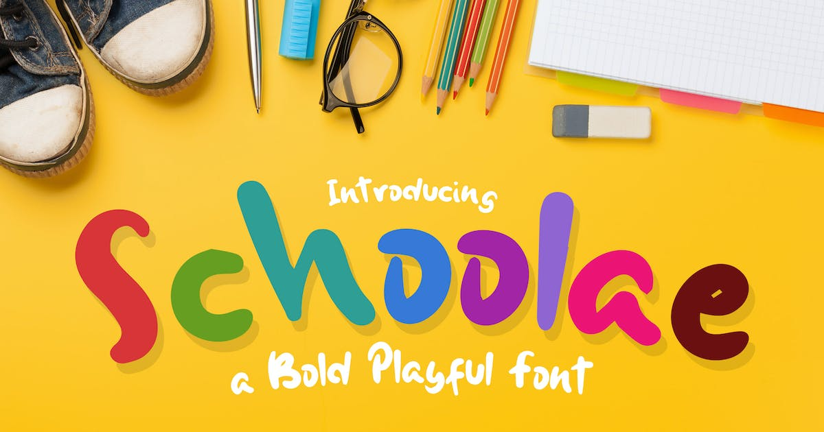 Download Schoolae Bold Playful Font by afahmy