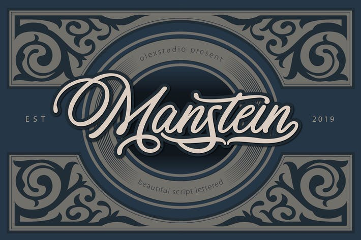 Thumbnail for MANSTEIN - Handwritten script