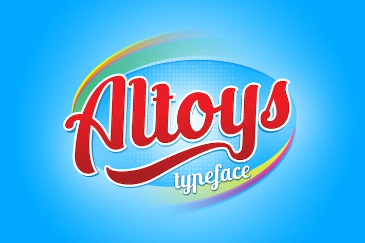 Thumbnail for Altoys typeface