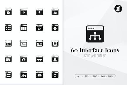 60 Interface minimal icons