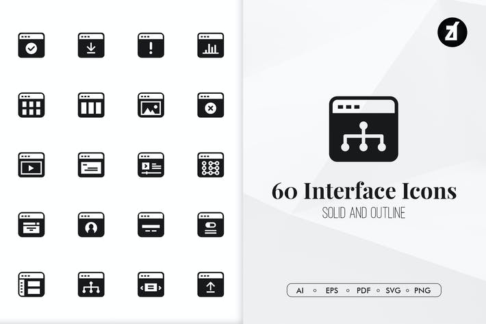 Thumbnail for 60 Interface minimal icons