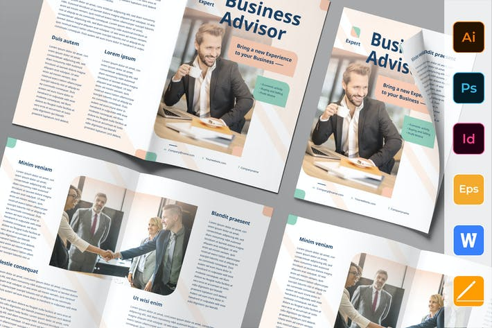 Thumbnail for Business Advisor Brochure Bifold