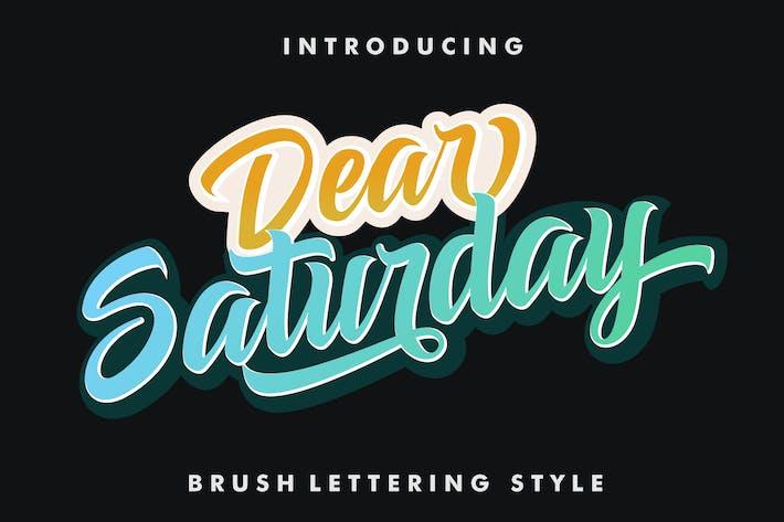Thumbnail for Dear Saturday Font