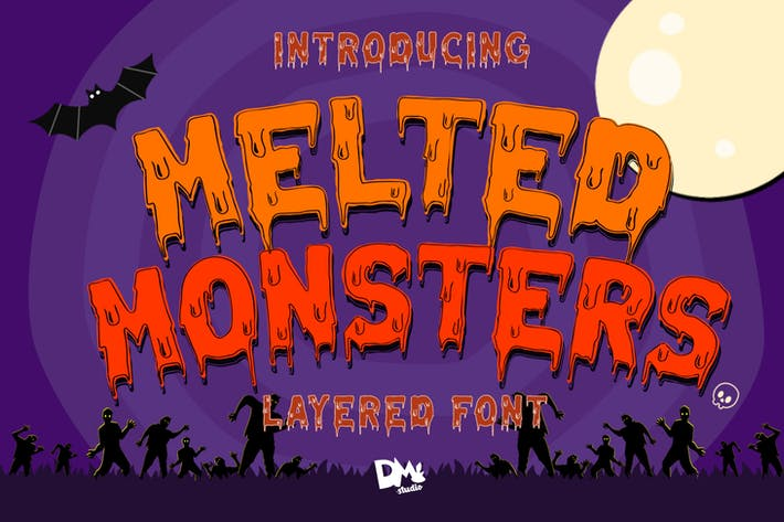 Thumbnail for Melted Monster - Fuente en capas de Halloween Pack