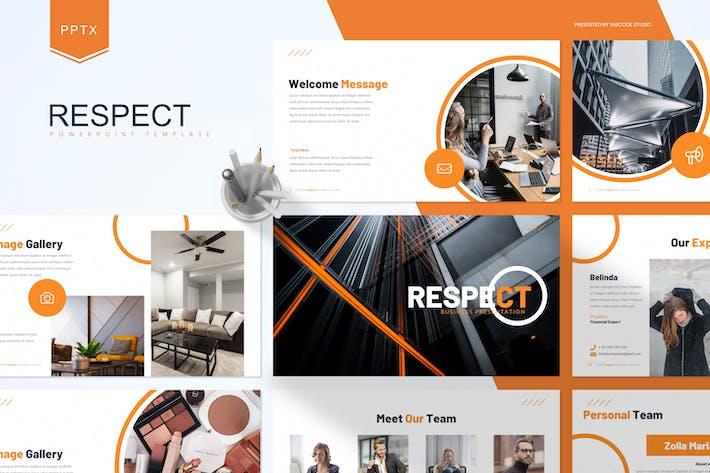 Thumbnail for Уважение - Шаблон Powerpoint для бизнеса