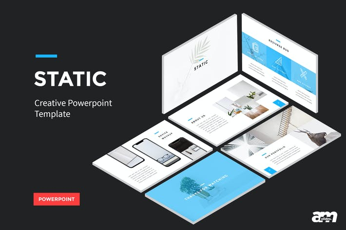 Thumbnail for Static - Creative Powerpoint Template