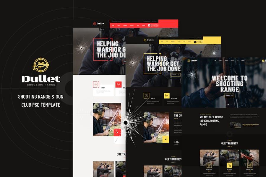 Dullet - Shooting Range & Gun Club PSD Template