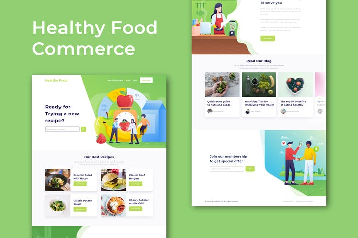 Thumbnail for Healthy Food Commerce - Website