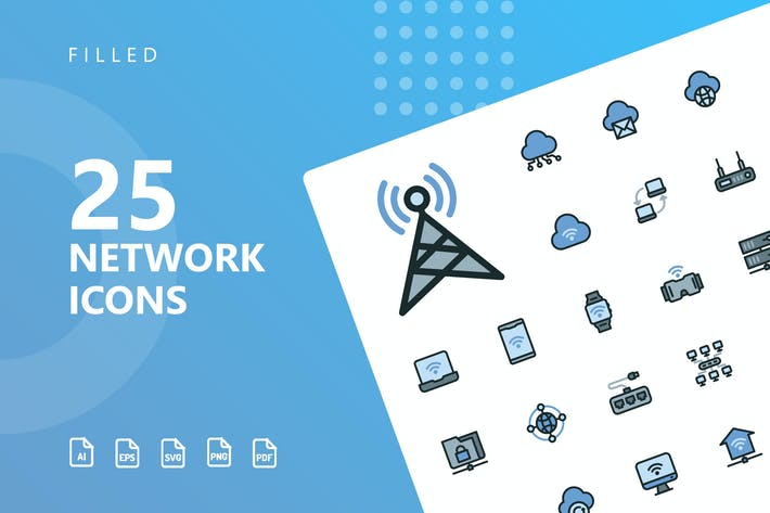 Thumbnail for Network Filled Icons