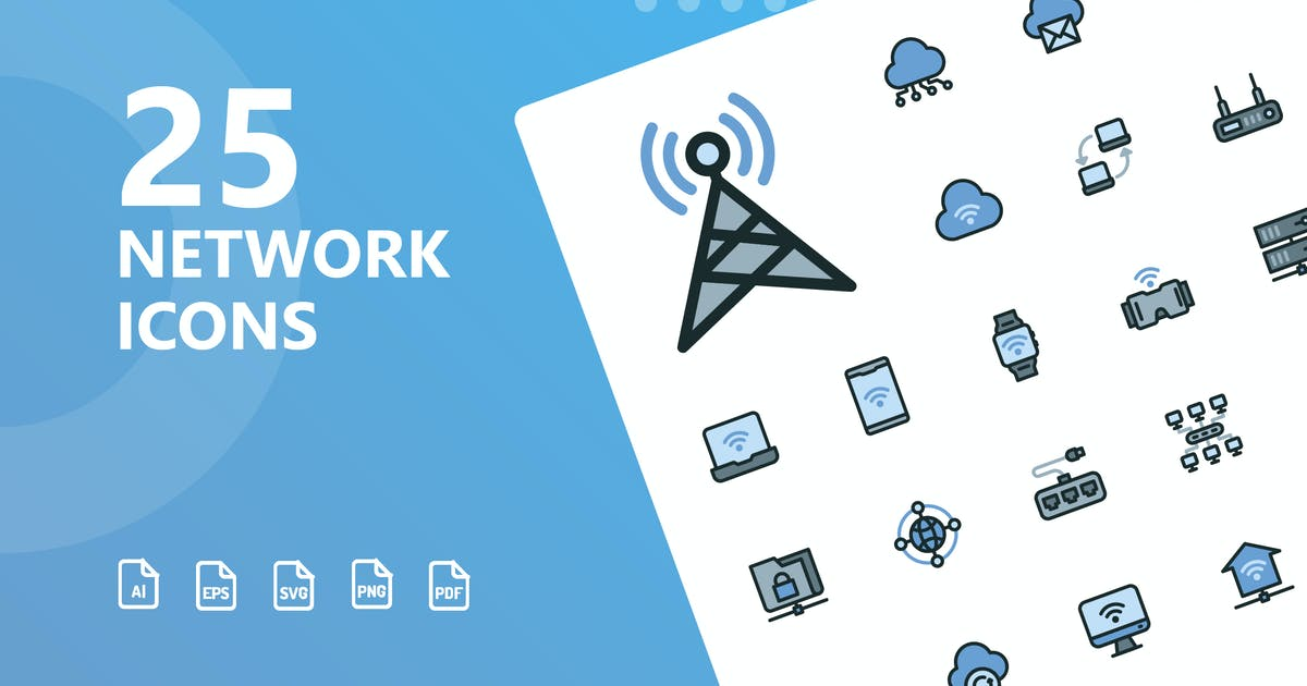 Download Network Filled Icons by kerismaker