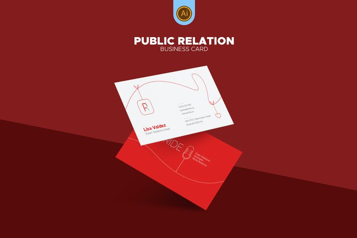 Thumbnail for Public Relations Business Card 01