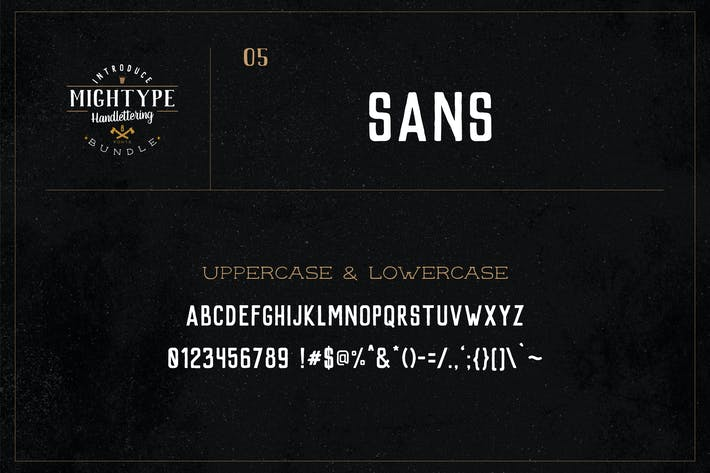Cover Image For Mightype 05 - Sans