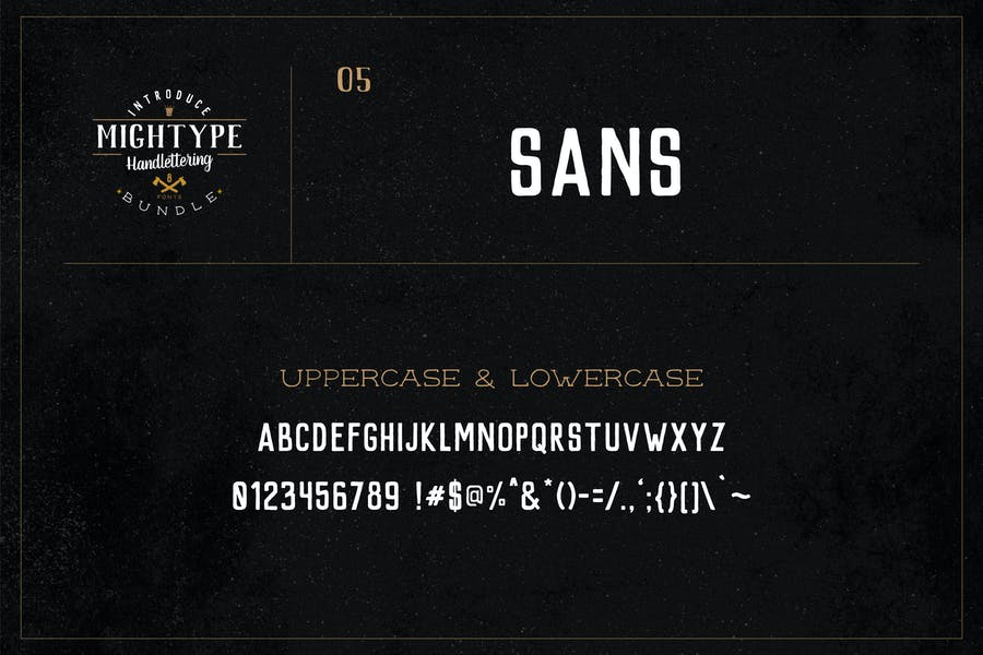 Mightype 05 - Sans