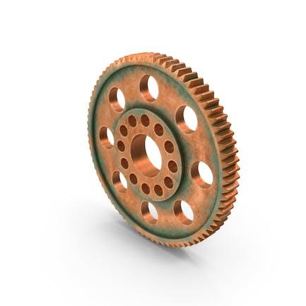Aged Copper Spur Gear