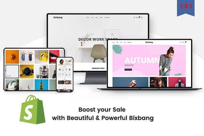 Thumbnail for Bixbang | Minimalist eCommerce Shopify Template