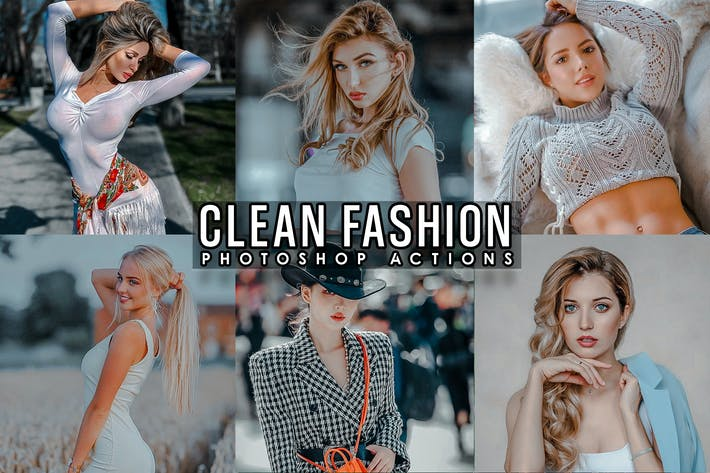 Thumbnail for Clean Portrait  Photoshop Actions