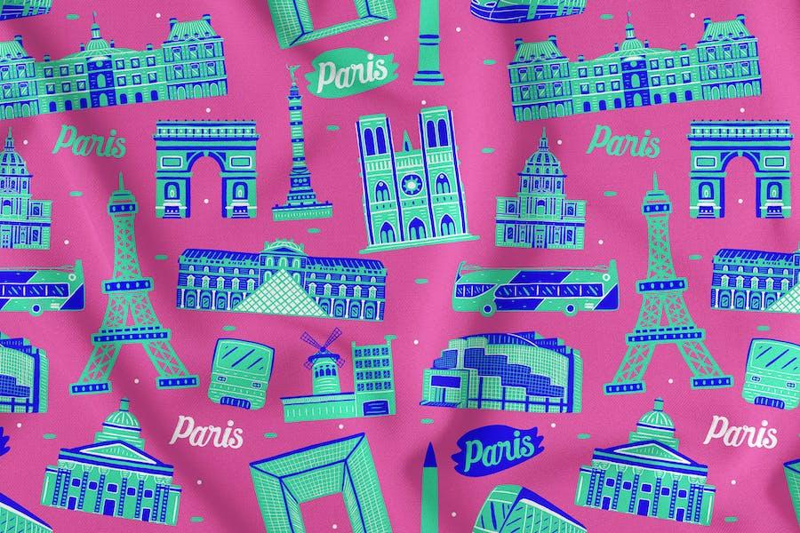Paris Nahtloses Muster