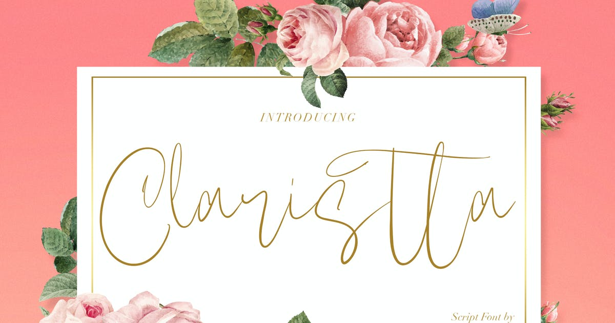 Download Claristta - Handwritten Brush Font by maulanacreative