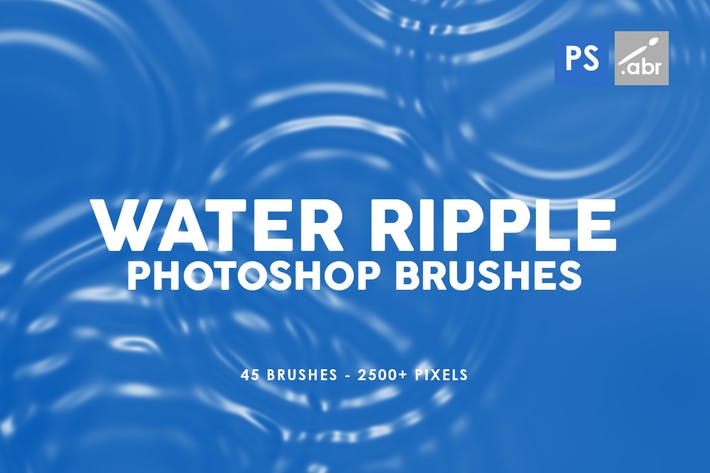 Cover Image For 45 Water Ripple Photoshop Brushes