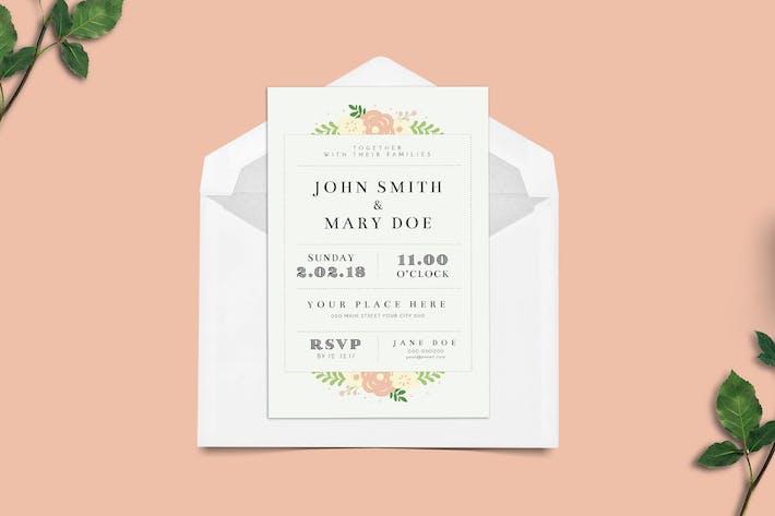 Thumbnail for Invitation de mariage florale simple