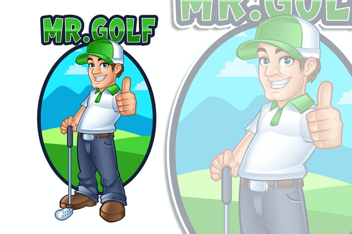 Thumbnail for Mr.Golf Maskottchen Logo Charakter