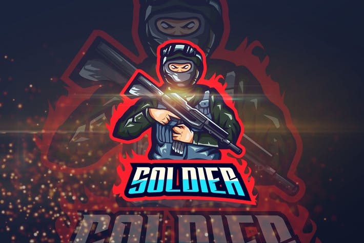 Thumbnail for Soldier - Shooter eSport Logo Template