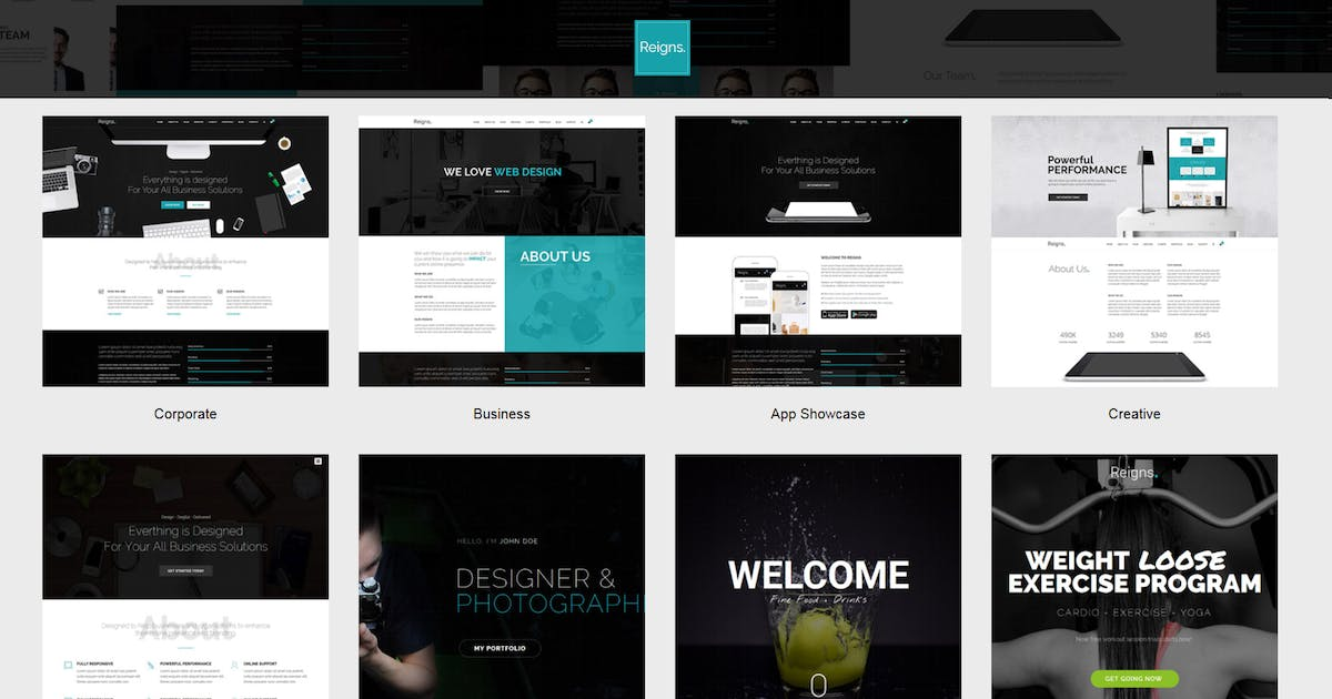 Download Reigns - Professional One Page HTML5 Templates by uxliner
