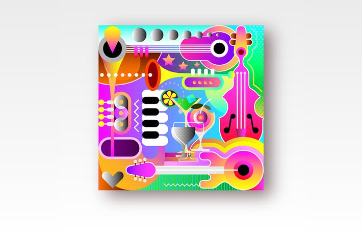 Thumbnail for Musical Background Design vector illustration