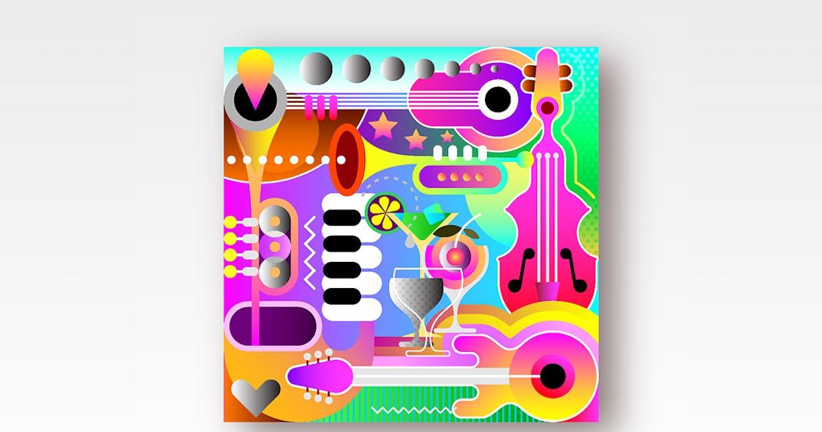 Download Musical Background Design vector illustration by danjazzia