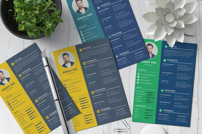 Thumbnail for Modern creative CV resume template