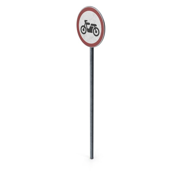 Thumbnail for Traffic Sign No Motor Cycles With Pole