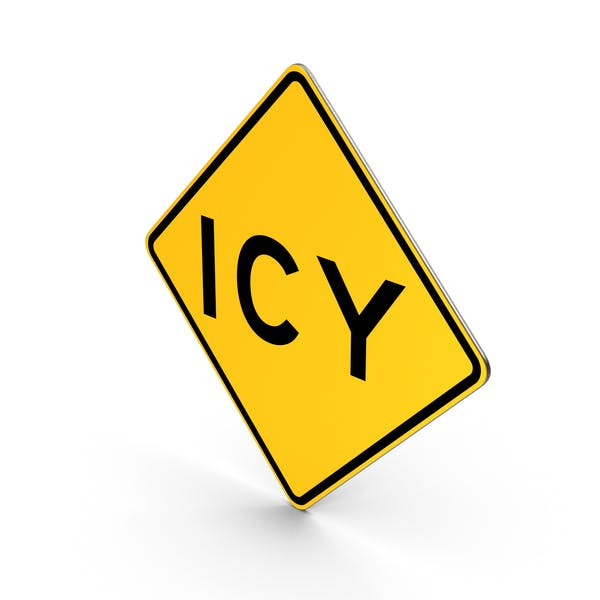 Icy California Road Sign