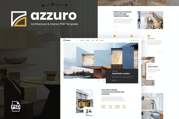 Thumbnail for Azzuro | Architecture & Interior PSD Template