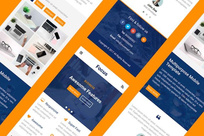 Thumbnail for Focus - UI Kit Multipurpose Mobile Template