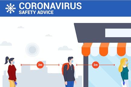 Distance social y prevención del coronavirus