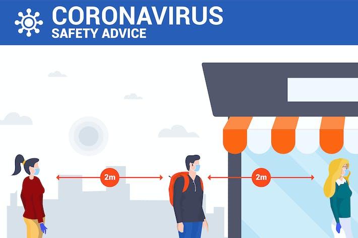 Thumbnail for Soziale Distanzierung und Coronavirusprävention