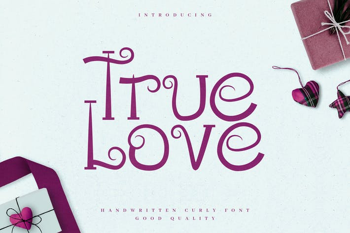 Thumbnail for True Love - Curly Valentine Font