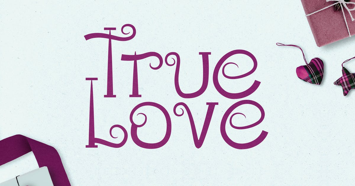 Download True Love - Curly Valentine Font by naulicrea