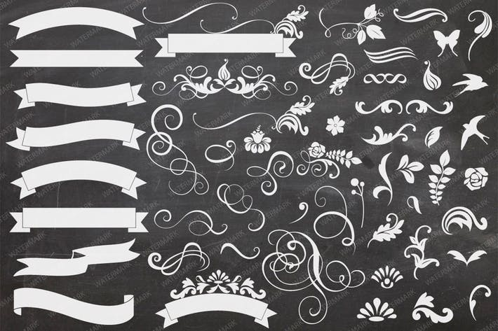 Thumbnail for Banners & Curls Illustration Collection