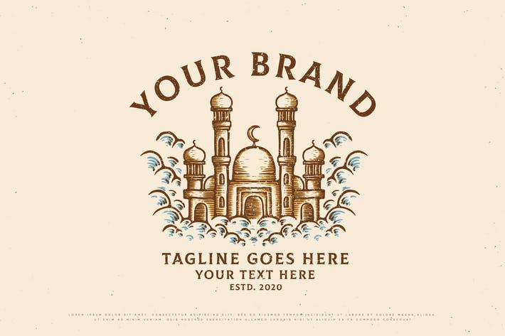 Thumbnail for Vintage-Design der islamischen Moschee